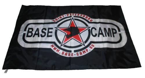 Флаг для команды BASE CAMP. Черный