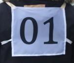 Номер нагрудный на резинках 2