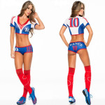 Free-shipping-Women-Clothing-Women-Blue-Cheerleader-Uniforms-Football-Baby-Suits-Model-Suits-Show-Costume