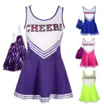 High-School-Cheerleading-suits-Sports-Team-Cheerleader-Girls-Uniform-Costume-Dress-one-size